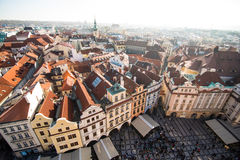 Prague like a point of turistic destinations Stock Images