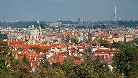 Prague - look from Petrin hill Stock Photos