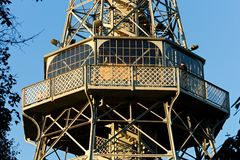 Prague lookout tower Royalty Free Stock Photo