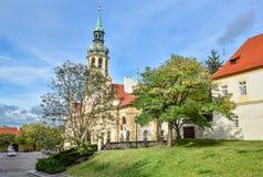 Prague Loreto est un monument historique baroque remarquable, un endroit de pèlerinage avec l'histoire captivante images stock