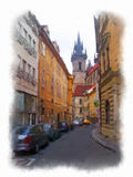 Prague made in watercolor style Royalty Free Stock Photo