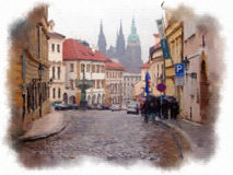 Prague made in watercolor style Stock Photography