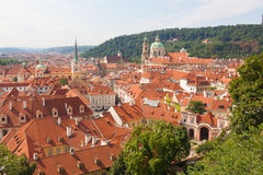 Prague. The magnificent old town on the Vltava river Stock Images