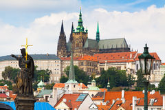 Prague. The magnificent old town on the Vltava river Stock Image