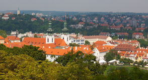 Prague. The magnificent old town on the Vltava river Royalty Free Stock Photo
