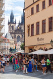 Prague. The magnificent old town on the Vltava river Royalty Free Stock Image