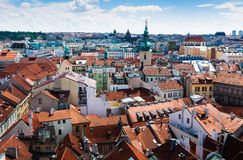 Prague. The magnificent old town on the Vltava river Stock Photo