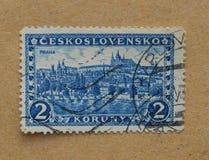 Prague mail stamp stock photography