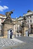 Prague - main entrance to the Prague castle. Main entrance to the Prague castle with guards Stock Photo