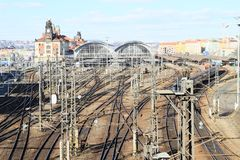 Prague main railway station royalty free stock photo