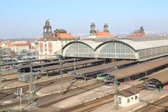 Prague main railway station stock images