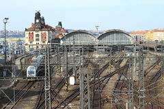 Prague main railway station Royalty Free Stock Images