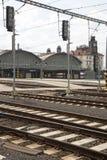 Prague main station Stock Photo