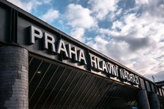 Prague, main train station stock photography