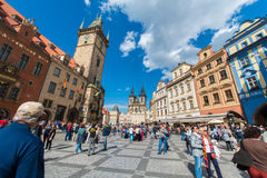 Prague - MAJ 9, 2014 Royaltyfria Bilder