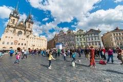 Prague - MAJ 9, 2014 Arkivbilder