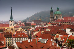 Prague, Mala Strana. Little Town old district of Prague with the St. Nicholas Church of Mala Strana Stock Photography