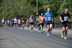 Prague marathon Stock Image