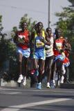 Prague marathon leaders Stock Images