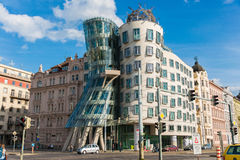 Prague - MAY 9, 2014: Dancing House on May 9 in. Prague - MAY 9, : Dancing House on May 9 in Prague, Chech Re Royalty Free Stock Photography