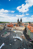 Prague - MAY 9, 2014: Old Town Square on May 9 in Stock Images
