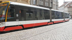 PRAGUE - MAY 25: Tram in the city center on May 25, 2017 in Prague stock video