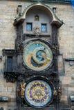 Prague medieval astronomical clock. The famous Prague medieval astronomical clock. Front view Royalty Free Stock Photos