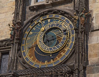 Prague medieval astronomical clock at the Old Town City Hall Stock Photo