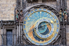 The Prague medieval astronomical clock Royalty Free Stock Photo