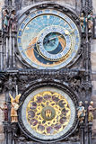 The Prague medieval astronomical clock Royalty Free Stock Photography