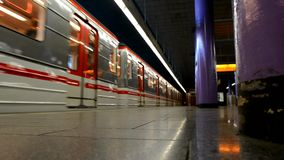 The Prague metro. The Prague metro in the Czech Republic stock video footage