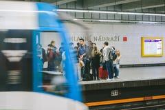Prague metro. Czech Republic Royalty Free Stock Photography