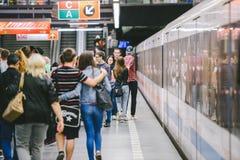 Prague metro. Czech Republic Stock Images