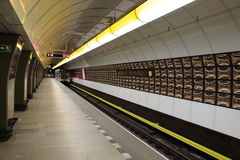 Prague metro Royalty Free Stock Images