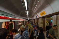 Prague metro Royalty Free Stock Image