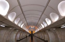 Prague metro interior royalty free stock image