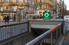 Prague metro Stock Photography