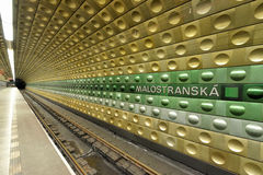 Prague Metro. Station malostranska of the Prague Metro, which is a rapid transit network of Prague, Czech Republic Royalty Free Stock Image