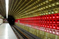 Prague Metro Underground Station Stock Images