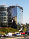 Prague, Modern Architecture. Prague Polygon House – a modern office building with ship-like shape and glass facade Stock Image