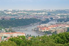 Prague, the Moldau River Royalty Free Stock Photography