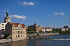 Prague, Moldau river and Smetana museum Stock Images