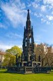 Prague monument. A tall monument in a park in Prague, Czech Republic Stock Photos