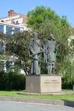 Prague. Monument to Johann Kepler and Silently Braga Stock Images