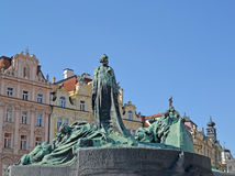 Prague.  Monument to the national hero Jan Hus Stock Image