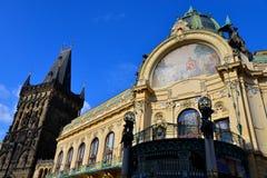 Prague Municipal  House & Powder Tower. Prague Stock Photography