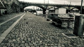 Prague Naplavka images libres de droits