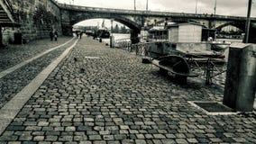 Prague Naplavka royaltyfria bilder