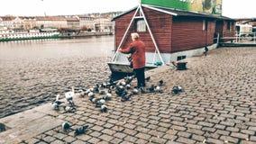 Prague Naplavka photo stock