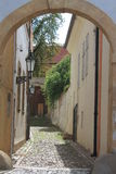 Prague - narrow street near Prague castle Royalty Free Stock Image